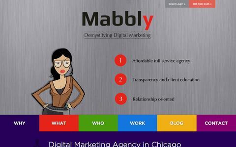 Screenshot of Blog Contact Page mabbly.com - Digital Marketing Company - PR Firms, Companies & Ad Agencies | Mabbly - captured Nov. 2, 2014