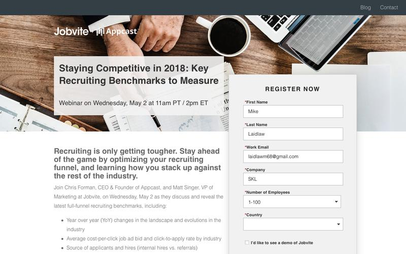 """Register for """"Staying Competitive in 2018: The Top Recruiting Benchmarks to Measure"""""""