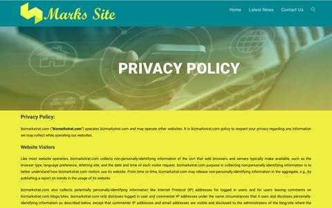 Screenshot of Privacy Page bizmarkstrat.com - Privacy - captured Oct. 17, 2018