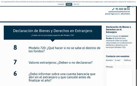 Screenshot of Home Page declaraciondebienesenelextranjero.es - Declaración de Bienes en el Extranjero | Declaración de Bienes en el Extranjero - captured Feb. 11, 2018