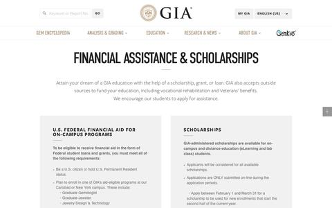 Gem Scholarship | Gemology Education Scholarships & Financial Assistance - GIA