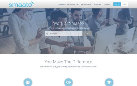 Screenshot of Jobs Page smaato.com - Find your dream job at one of the global Smaato offices - Smaato - captured June 22, 2018