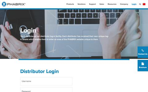 Screenshot of Login Page phabrix.com - Login - Phabrix - captured Sept. 26, 2018