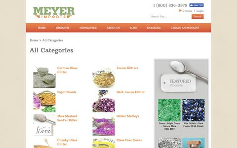 Screenshot of Products Page meyer-imports.com - Meyer Imports, LLC - captured Sept. 24, 2018