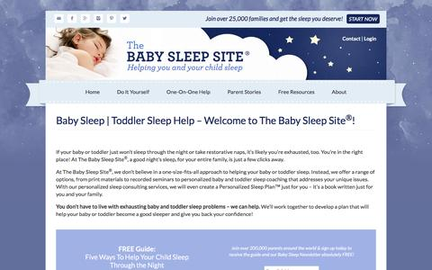 Screenshot of Home Page babysleepsite.com - Baby Sleep | Toddler Sleep Help - Welcome to The Baby Sleep Site®! - captured Jan. 15, 2016