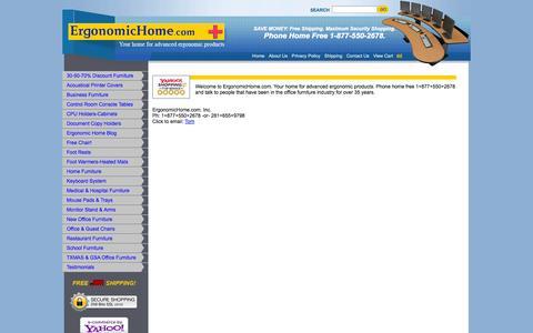 Screenshot of Contact Page ergonomichome.com - ErgonomicHome.com Contact Info for Ergonomic Office Furniture. - captured Oct. 2, 2014
