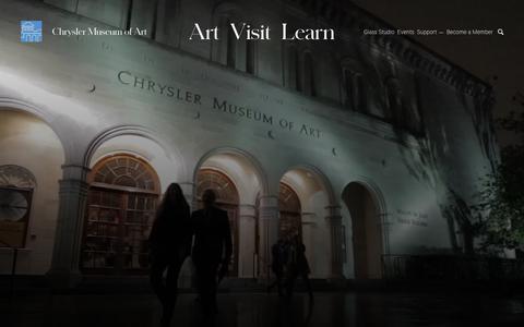 Screenshot of Support Page chrysler.org - Support | Art Museum Membership, Support Art | Chrysler Museum of Art - captured Dec. 14, 2018