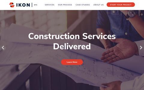 Screenshot of Home Page ikonefs.com - Facility & Energy Solutions Nationwide - IKON   EFS - captured Sept. 28, 2018