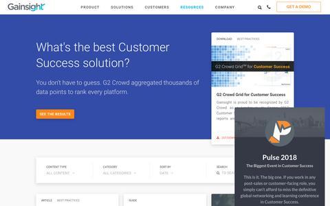 Customer Success Management Resources - Customer Success Software | Gainsight
