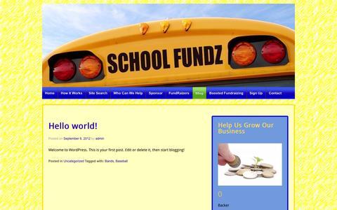 Screenshot of Blog schoolfundz.com - Blog | School Fundz Main Site - captured Sept. 29, 2014