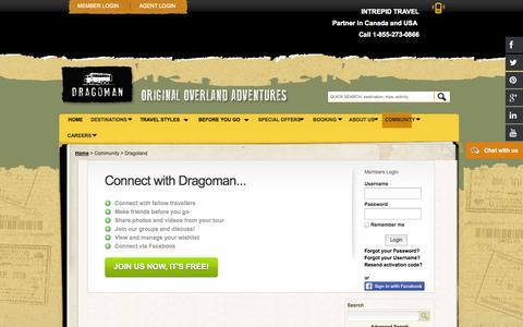 Screenshot of Signup Page dragoman.com - Welcome to Dragoland - captured Sept. 18, 2014