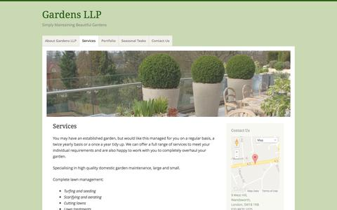 Screenshot of Services Page gardensllp.co.uk - Services | Gardens LLP - captured Sept. 30, 2014