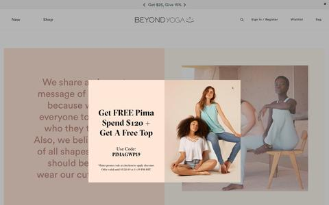 Screenshot of About Page beyondyoga.com - About Us 2019 - captured April 24, 2019