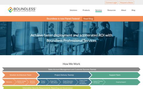 Screenshot of Services Page planet.com - Services - Planet Federal - captured March 14, 2019