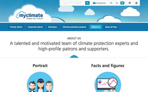 Screenshot of About Page myclimate.org - myclimate is your partner for effective climate protection, with consulting services, climate education and climate protection projects - captured Oct. 13, 2018