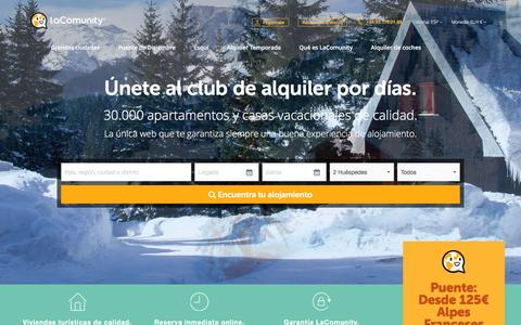 Screenshot of Home Page Blog lacomunity.com - LaComunity - Club de alquiler de apartamentos y casas vacacionales - captured Dec. 1, 2015