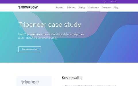 Screenshot of Case Studies Page snowplowanalytics.com - Snowplow | Tripaneer Study - captured Feb. 10, 2020