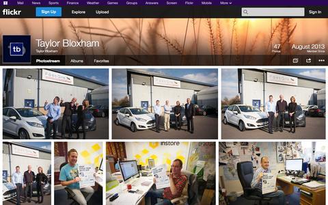 Screenshot of Flickr Page flickr.com - Flickr: Taylor Bloxham's Photostream - captured Oct. 26, 2014
