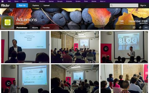 Screenshot of Flickr Page flickr.com - Flickr: AdLemons' Photostream - captured Oct. 22, 2014
