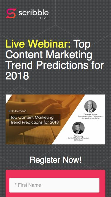 Top Content Marketing Trend Predictions for 2018