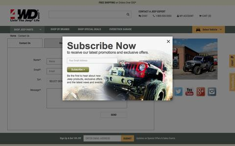 Screenshot of Contact Page 4wd.com - Contact Us   4wd.com - captured March 29, 2017