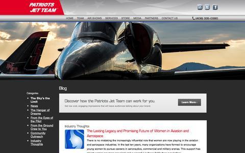 Screenshot of Blog patriotsjetteam.com - Blog - Patriots Jet Team - captured Oct. 6, 2014