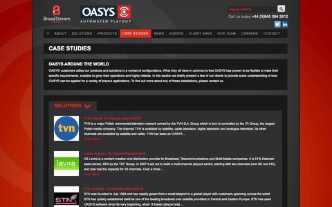 Screenshot of Case Studies Page oasys.com - Case Studies - captured Oct. 7, 2014