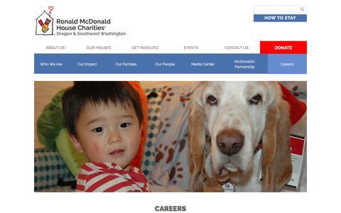 Screenshot of Jobs Page rmhcoregon.org - Careers - Ronald McDonald House Charities Oregon and Southwest Washington - captured April 9, 2017