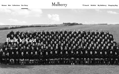 Screenshot of About Page mulberry.com - About Us | Mulberry - captured May 5, 2018