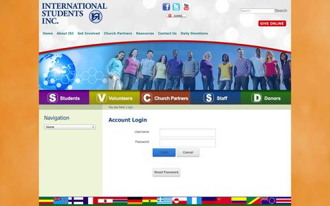 Screenshot of Login Page isionline.org - Account Login - captured Oct. 6, 2014