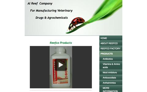 Screenshot of Products Page jimdo.com - PRODUCTS - reefco's JimdoPage! - captured Sept. 16, 2014