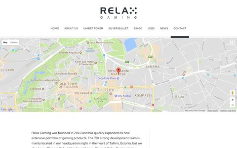 Screenshot of Contact Page relax-gaming.com - contact - Relax Gaming Ltd. - captured Oct. 24, 2017