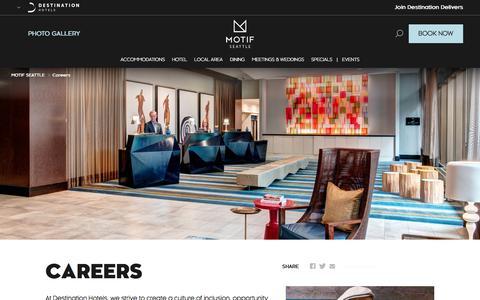 Screenshot of Jobs Page destinationhotels.com - Motif Seattle - Careers - captured Sept. 20, 2018
