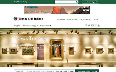 Screenshot of Press Page touringclub.it - News | Touring Club - captured Nov. 13, 2015