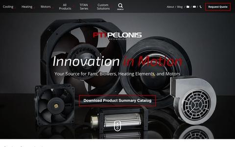 Screenshot of Home Page pelonistechnologies.com - Pelonis Technologies - Exton PA - captured July 20, 2017