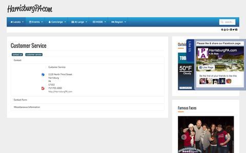 Screenshot of Support Page harrisburgpa.com - HarrisburgPA.com - HarrisburgPA.com - captured Oct. 28, 2016