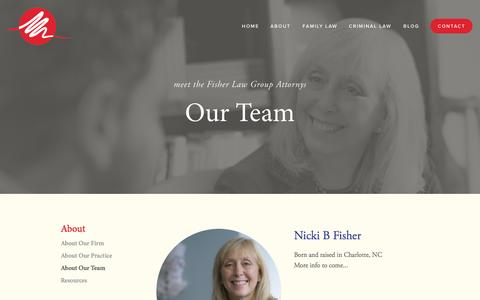 Screenshot of Team Page fisherlawgrouppllc.com - About Team — Fisher Law Group PLLC - captured Oct. 29, 2014