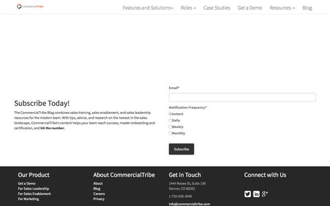 Subscribe to the CommercialTribe Blog