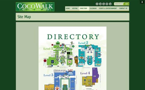 Screenshot of Site Map Page cocowalk.net - Site Map | CocoWalkCocoWalk - captured Oct. 28, 2014