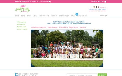 Screenshot of Team Page lollywollydoodle.com - Meet The Team – Lolly Wolly Doodle - captured Sept. 11, 2014