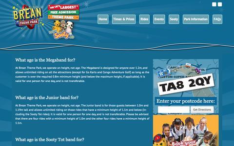 Screenshot of FAQ Page breanthemepark.co.uk - FAQs Archive • Brean Theme Park - captured Oct. 26, 2018