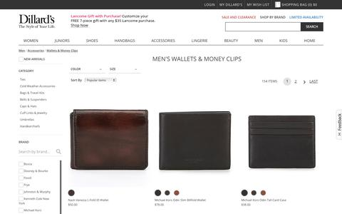 Men | Accessories | Wallets & Money Clips | Dillards.com