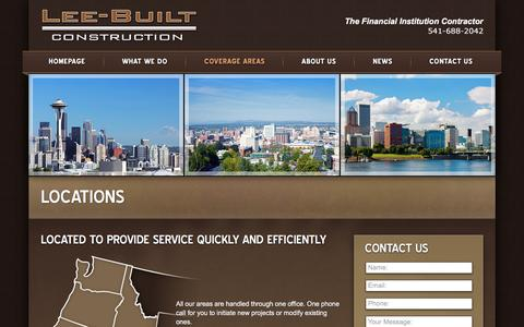 Screenshot of Locations Page leebuilt.com - Locations | Lee-Built Construction - captured Jan. 28, 2016
