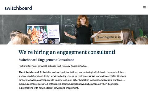 Screenshot of Jobs Page switchboardhq.com - Jobs | Switchboard - captured Aug. 15, 2018