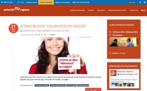 Screenshot of Blog estacioninglesa.es - Blog Cursos Intensivos de Inglés   Estación Inglesa - captured Jan. 31, 2016