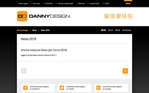 Screenshot of Press Page dannydesign.it - Danny Design: news 2018 - captured Feb. 14, 2018