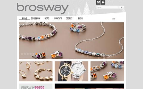 Screenshot of Home Page brosway.com - Brosway - captured Jan. 15, 2016