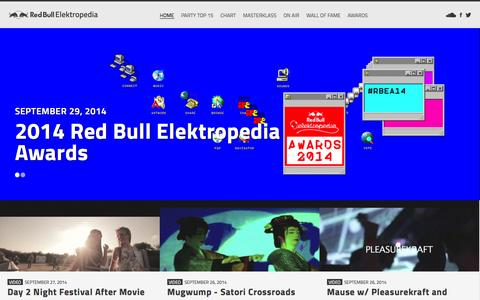 Screenshot of Home Page redbullelektropedia.be - Red Bull Elektropedia | Red Bull Elektropedia - captured Sept. 30, 2014