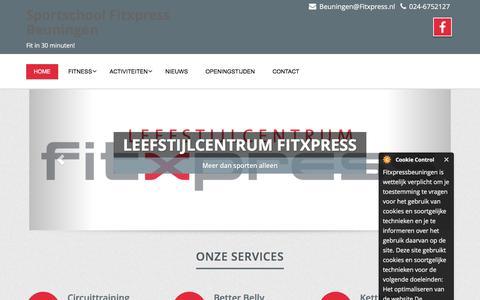 Screenshot of Home Page fitxpressbeuningen.nl - Home page - Sportschool Fitxpress Beuningen - captured June 5, 2017