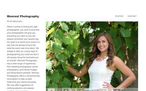 Screenshot of Home Page monrealphotography.com - Zenfolio | Monreal Photography - captured Oct. 9, 2014